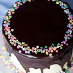 Ganache Glazed Chocolate Cake