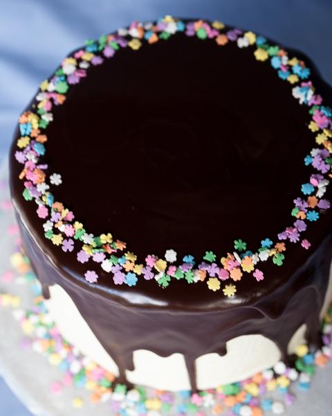 Ganache Glazed Chocolate Cake | Flour Arrangements