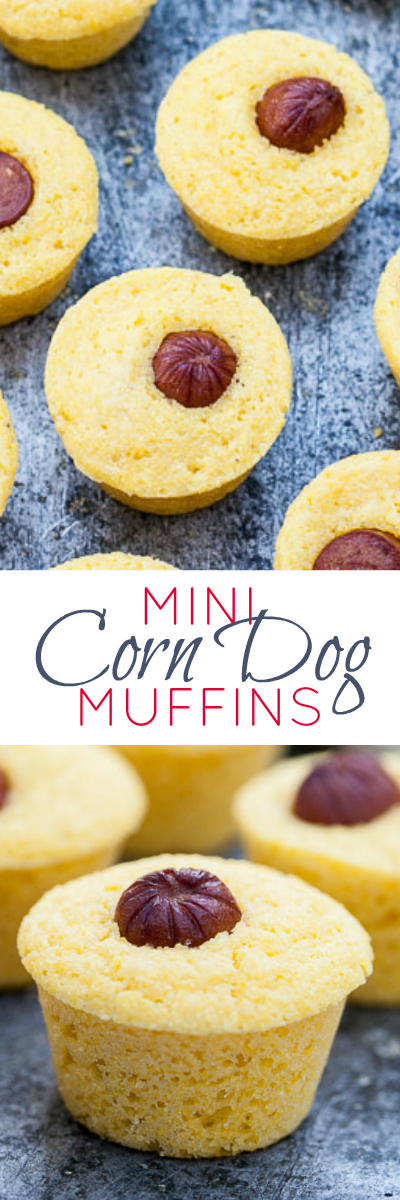 These mini corn dog muffins strike just the right balance of sweet and salty. This crowd-pleasing snack recipe is simple to prepare.