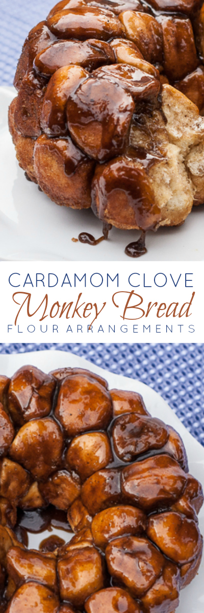 Warm, tender pull-apart bread oozing with caramelized cardamom-clove brown sugar makes Cardamom-Clove Monkey Bread pure comfort food.