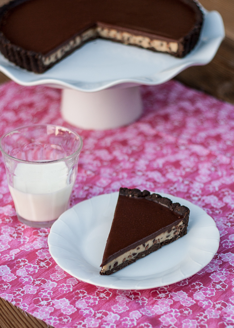 Chocolate Chip Cookie Dough Tart | Flour Arrangements
