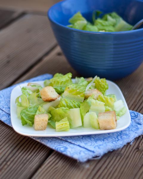 Caesar Salad with Homemade Croutons | Flour Arrangements