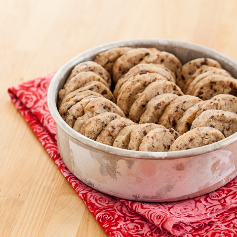 Pecan-Cocoa Nib Shortbread Cookies | Flour Arrangements