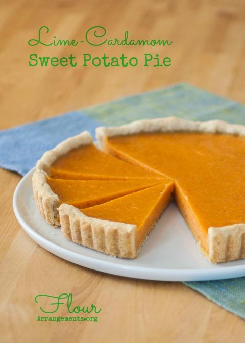 Lime Cardamom Sweet Potato Pie | Flour Arrangements