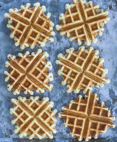 Creamed Turkey with Thyme-Cornmeal Waffles   Flour Arrangements