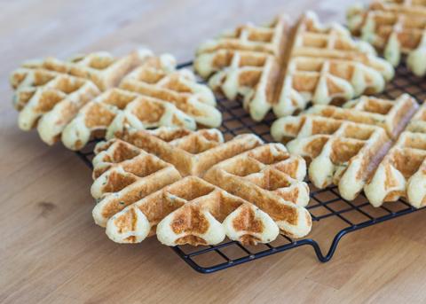 Creamed Turkey with Thyme-Cornmeal Waffles | Flour Arrangements