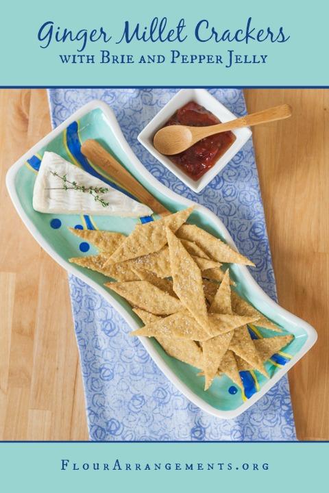 Ginger Millet Crackers   Flour Arrangements