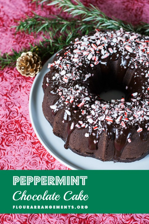 peppermint chocolate cake save print sprinkle peppermint candies over ...