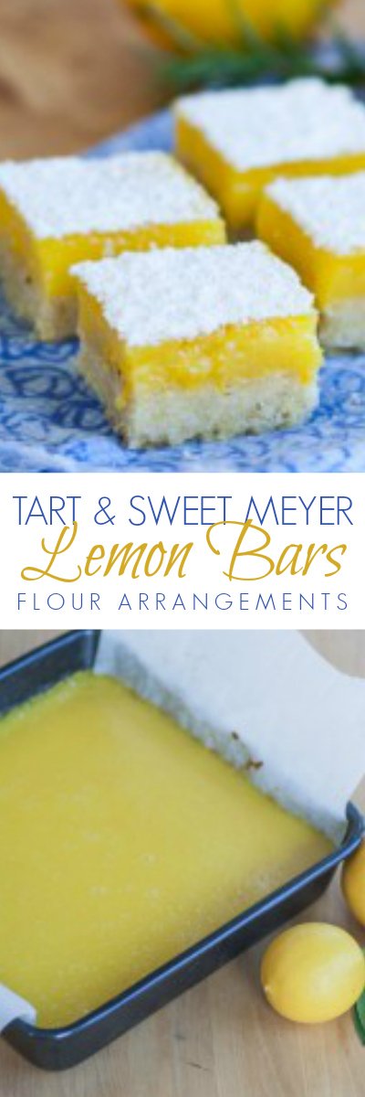 Bright lemon flavor shines against the subtle resinous backdrop of rosemary-pine nut shortbread in these Meyer Lemon Bars. This delicious recipe is perfect for any occasion.