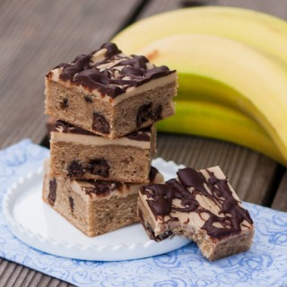 Banana-Chocolate Blondies with Penuche Frosting | Flour Arrangements
