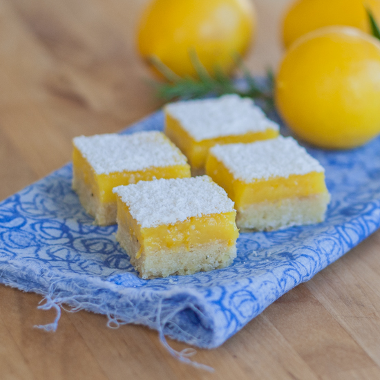 Lemon Bars with Rosemary Pine Nut Shorbread | Flour Arrangements