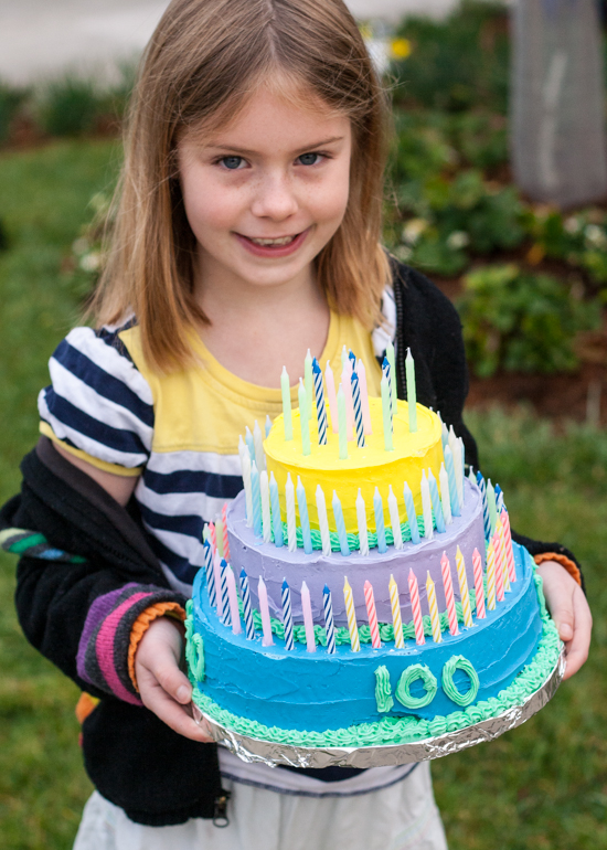 100th Day of School Cake | Flour Arrangements