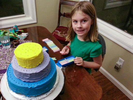 100th Day of School Cake   Flour Arrangements