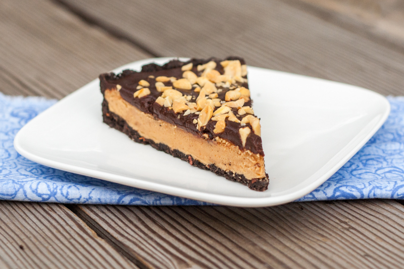 Two layers of chocolate, two layers of peanut. Done and done. You're ...