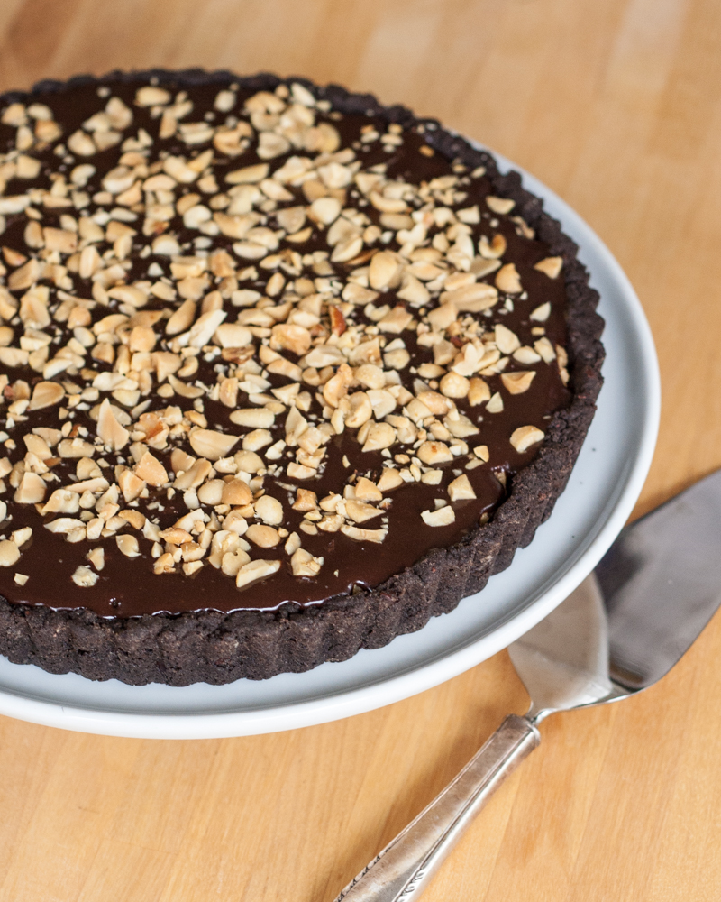 Chocolate-Peanut Butter Tart Recipe — Dishmaps