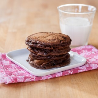 Chocolate Chocolate Chip Pancakes | Flour Arrangements