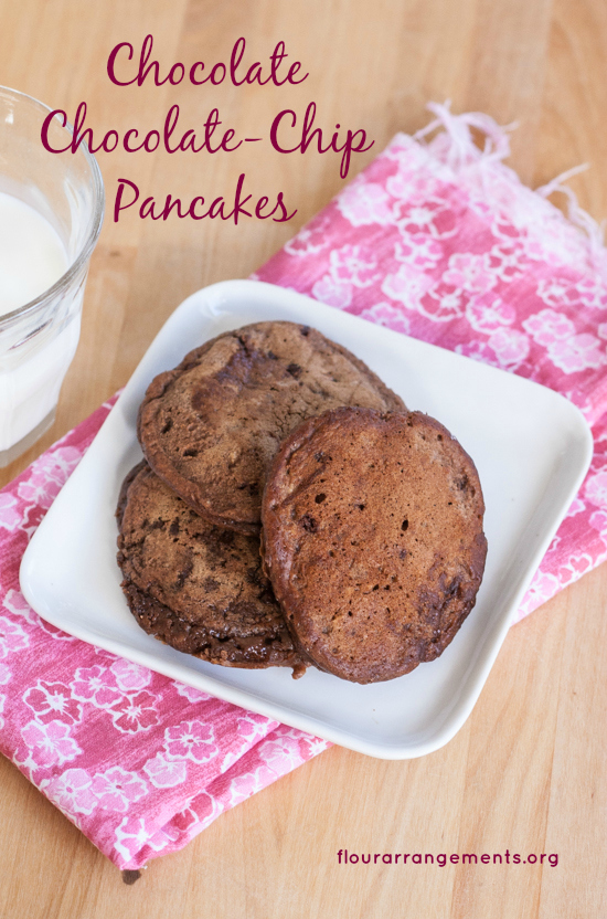 Cocoa powder and mini chocolate chips make Chocolate Chocolate-Chip Pancakes super indulgent. Serve as a special breakfast treat or a surprising dessert. From flourarrangements.org