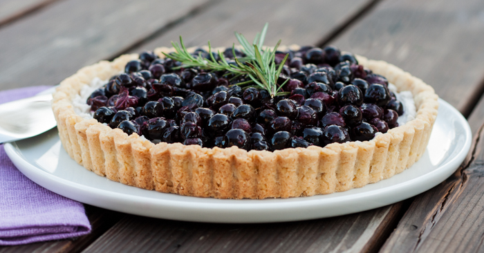 Honeyed Blueberry Tart | Flour Arrangements