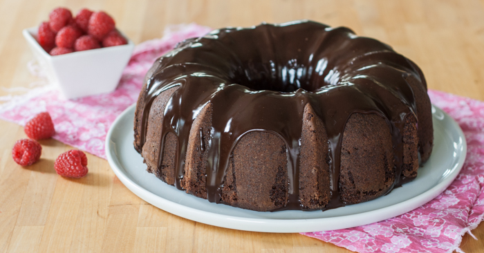 Deep Chocolate Raspberry Cake Recipe — Dishmaps