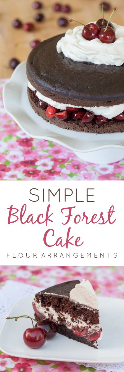 This rustic cake combines all the elements of a fancy Black Forest Cake -- chocolate cake, cherries, whipped cream, and kirsch -- in the simplest form.