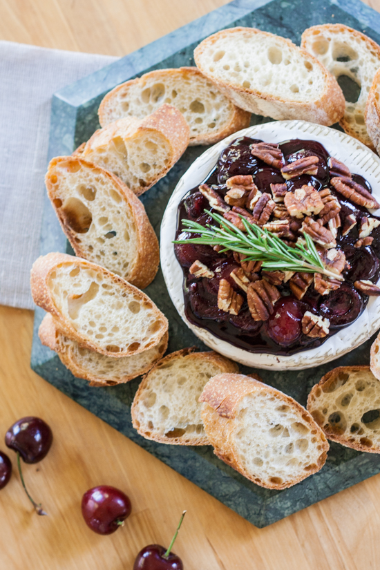 Warm and satisfying, this Baked Brie with Honeyed Cherries and Toasted Pecans feels elegant and indulgent, yet is quick and easy to prepare.