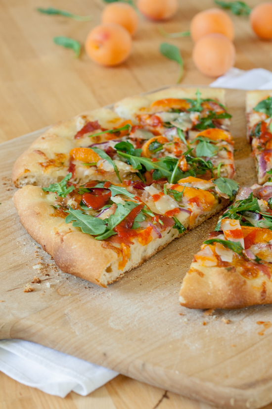 Apricot & Proscuitto Pizza with Sriracha & Honey | Flour Arrangements
