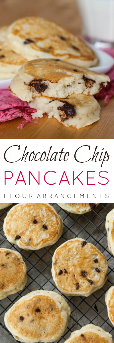 Light in texture and sweet and tangy in flavor -- with added indulgence from gooey chocolate -- these Chocolate Chip Pancakes are a simple, fast breakfast treat.