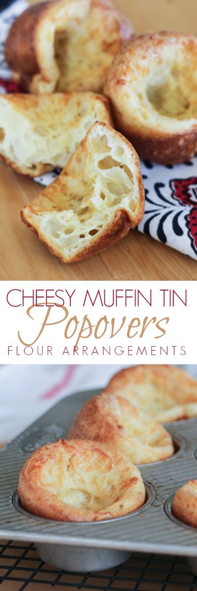 Rich, cheesy muffin tin popovers deliver a delicately crisp exterior with a light and fluffy interior. This simple recipe is great for kids to prepare!