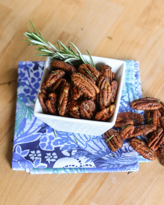 Sweet-Spiced Rosemary Pecans | Flour Arrangements