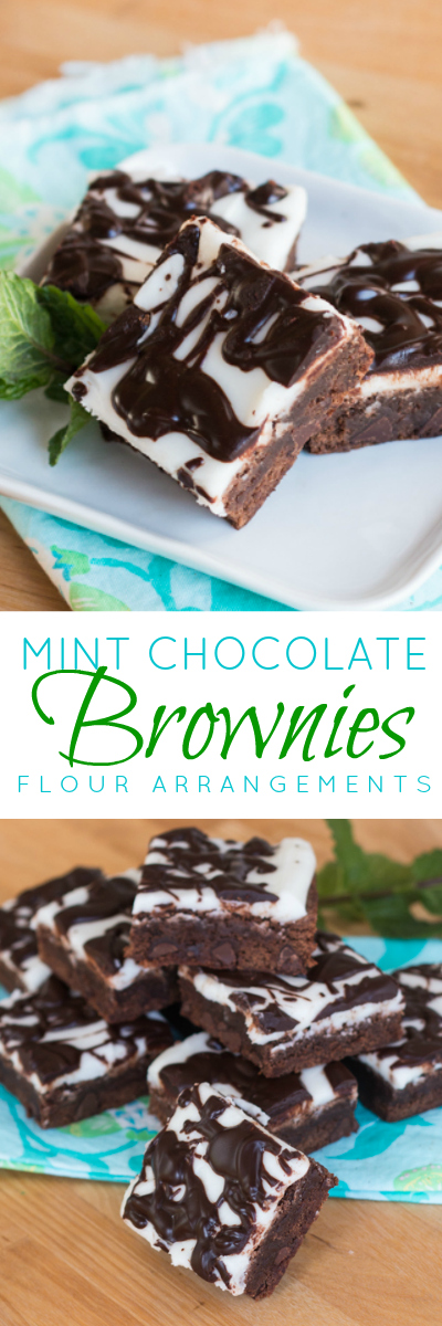 Deep, dark chocolate and refreshing minty goodness come together in these dense and rich Mint Chocolate Brownies. This refreshing recipe is perfect parties.