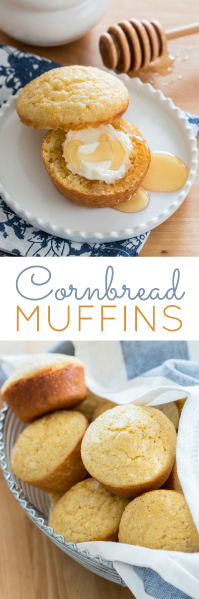 These tender, easy-to-prepare Cornbread Muffins are equally delicious with a hearty meal or with butter and honey as a homey, comforting snack. Great last-minute recipe!