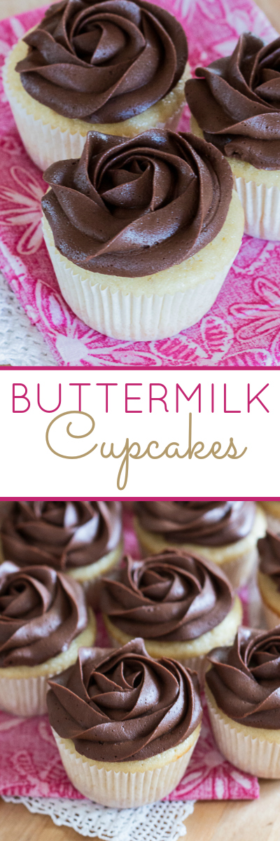These tender Buttermilk Cupcakes are full of sweet vanilla flavor. This mix-by-hand recipe is just as easy to prepare as box-mix cupcakes, but it tastes infinitely better.