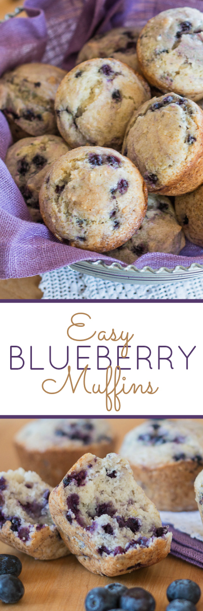 Sweet, light, and tender, these easy Blueberry Muffins get a hint of brightness from lemon zest. This mix-by-hand recipe is simple to prepare.