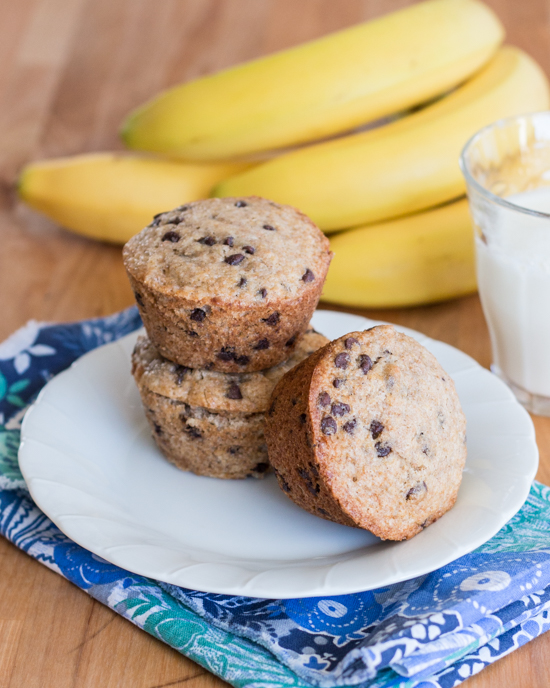Banana Chocolate Chip Muffins | Flour Arrangements