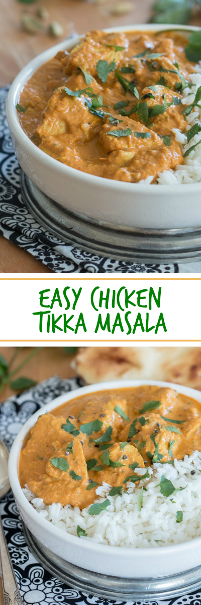 Tender, flavorful chicken in a richly spiced sauce makes this easy Chicken Tikka Masala a serious crowd pleaser. Serve with rice and naan to help you enjoy every last drop! A great recipe for parties.