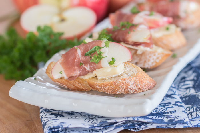 Apple & Cambozola Crostini | Flour Arrangements