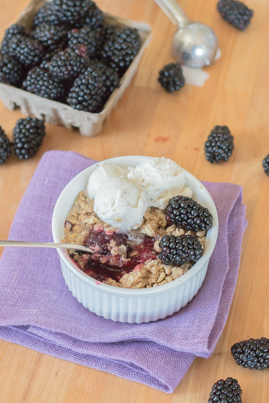 With minimal prep required, thisblackberry crisp recipe makes summer baking a breeze. Its sweet berry flavor and hint-of-spice oatmeal-streusel topping taste amazing oven-warm with rich vanilla ice cream.