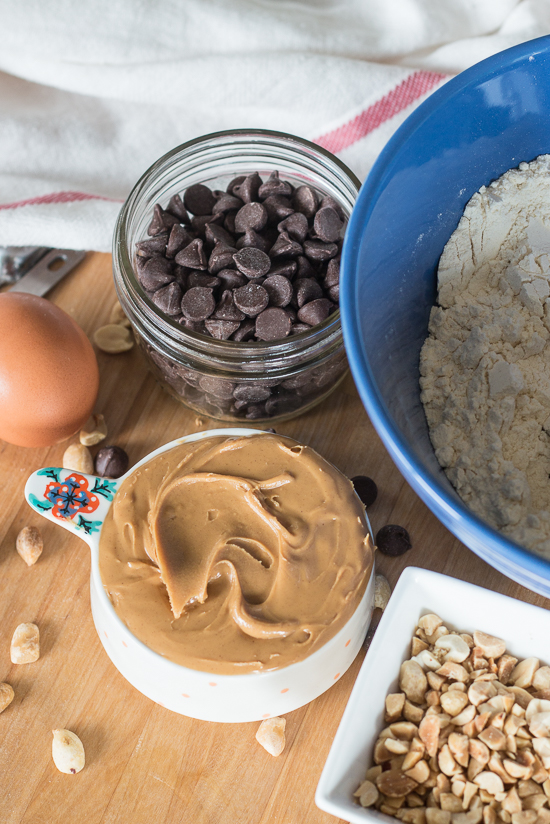 Nutty goodness and rich chocolate make a perfect match in these peanut butter chocolate chip muffins. This quick, simple recipe produces a satisfying, protein-packed snack or breakfast treat.