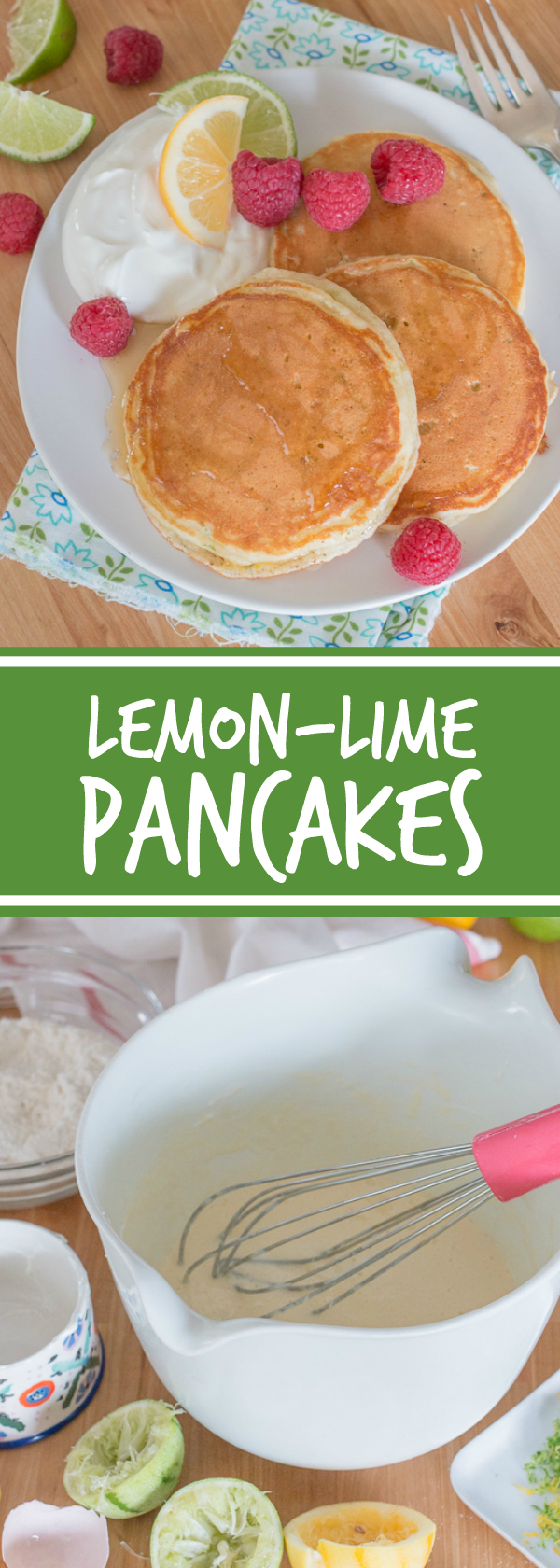 Add some zing to your breakfast routine with these bright and flavorful lemon-lime pancakes. While this simple recipe comes together quickly, it makes breakfast feel like a special occasion.