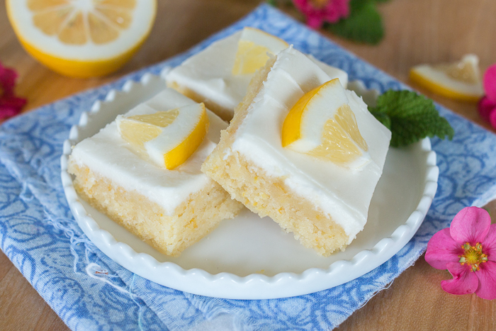 Tender and irresistible, these tangy Lemon Blondies burst with bold citrus flavor. Smooth, creamy lemon frosting adds sweetness and zing to these easy-to-prepare treats.