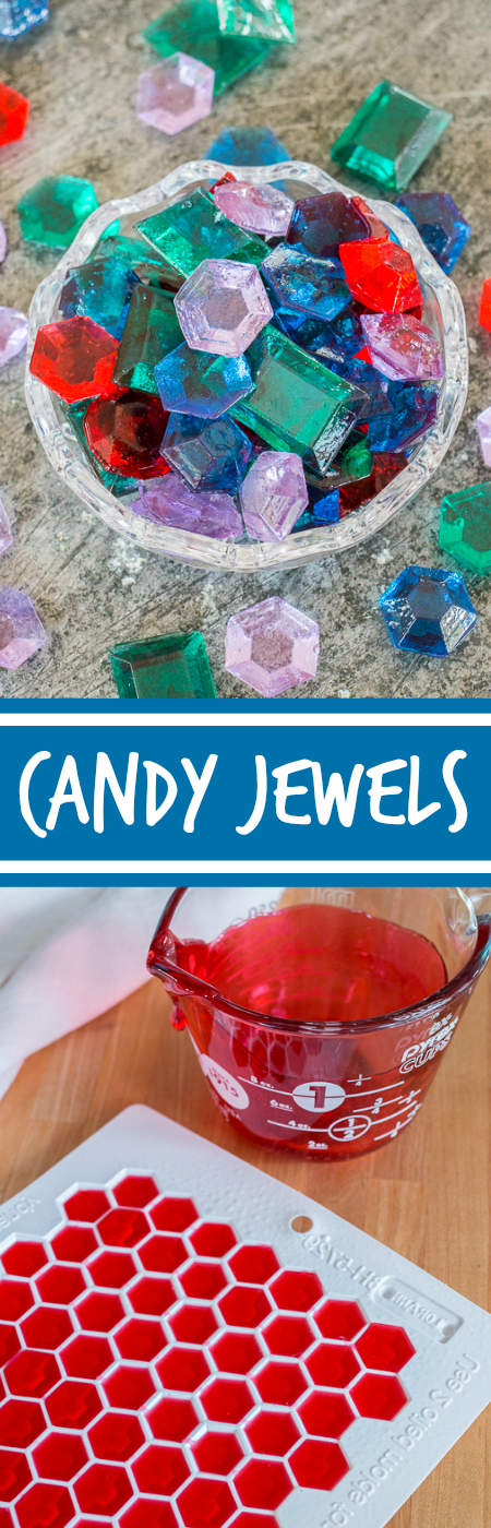 These luxurious Candy Jewels aresurprisingly simple to prepare. With a few basic ingredients, a candy thermometer, and gem molds, you'll be cranking out perfecthard candies in no time at all!