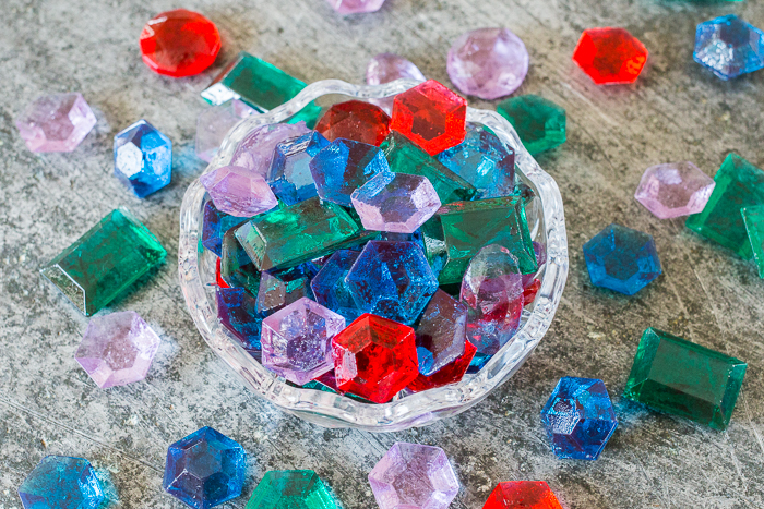 These luxurious Candy Jewels are surprisingly simple to prepare. With a few basic ingredients, a candy thermometer, and gem molds, you'll be cranking out perfect hard candies in no time at all!