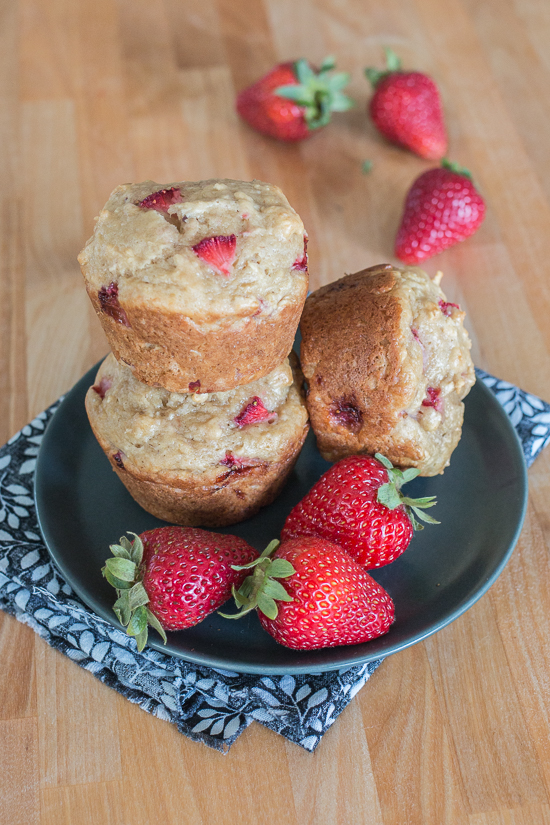 These Strawberry Oat Muffins deliver bursts of fresh strawberry goodness in a tender, hint-of-vanilla packaging. Perfect for breakfast, brunch or snack time, this quick and easy recipe produces flavorful, delightfully textured muffins that disappear in a flash.
