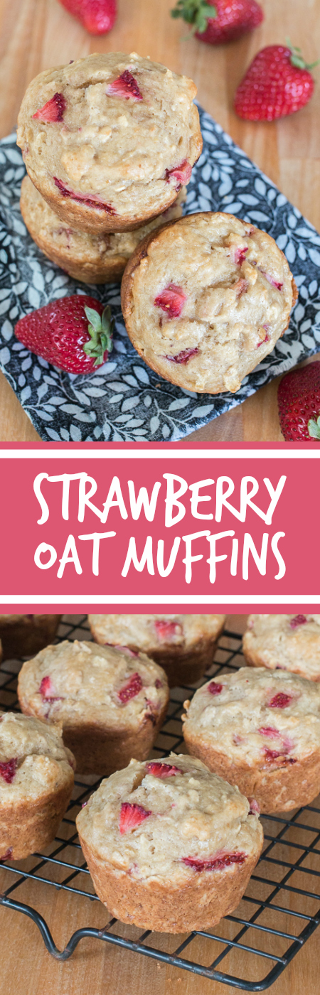 These Strawberry Oat Muffins deliver bursts of fresh strawberry goodness in tender, hint-of-vanilla packaging. Perfect for breakfast, brunch, or snack time, this quick and easy recipe produces flavorful, delightfully textured muffins that disappear in a flash.