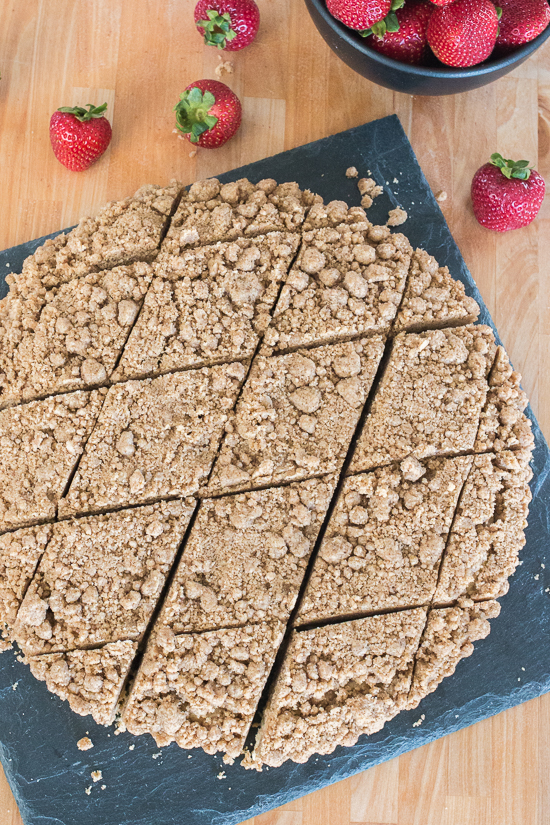 Simple yet indulgent, this New York-Style Crumb Cake features a thick, satisfying layer of cinnamon-brown sugar topping that perfectly complements the light and tender vanilla cake beneath it.