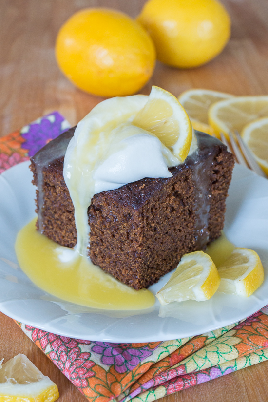 Moist and deeply spiced, this Old Fashioned Gingerbread recipe delivers comfort food at its best.With a dollop of whipped cream and a drizzle hot lemon sauce, the warm spices and earthy molasses richness of this classic American quick bread make it a superb fall treat.