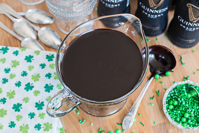 Turn a simple hot fudge sundae into a St. Patrick's Day treat with this easy Guinness Hot Fudge Sauce recipe.