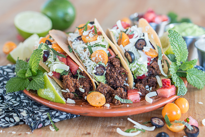 These remarkably realistic-looking Dessert Tacos feature crisp cookie shells loaded with crumbled gingerbread