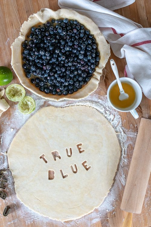 With tangy citrus tones from fresh lime juice and zest, this maple syrup-sweetened Blueberry Pie makes a perfect summer-time dessert.