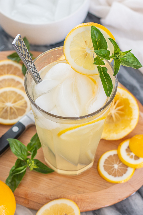 Sweet and tart with a hint-of-vanilla, this cool, refreshing Single-Serving Vanilla Lemonade is ready in minutes.